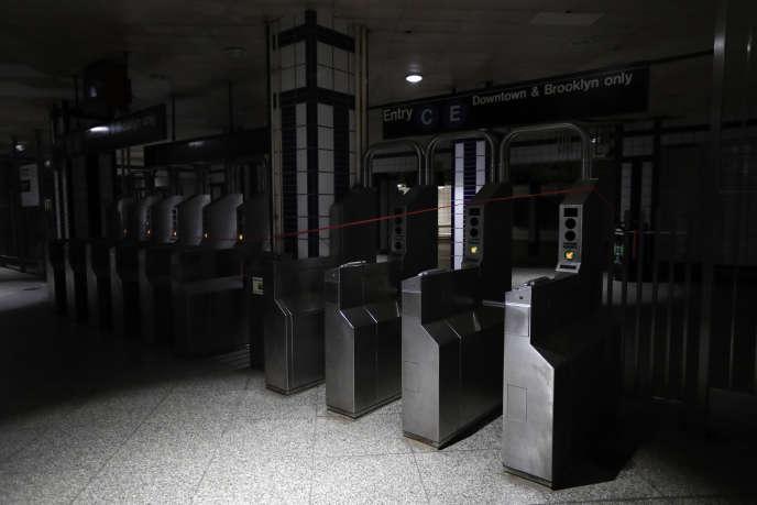 Panne d'électricité dans le métro new-yorkais le 13 juillet.