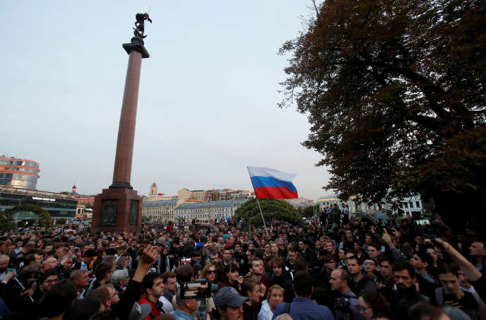 Rassemblement de soutien aux indépendants candidats à la douma de Moscou, le 15 juillet.