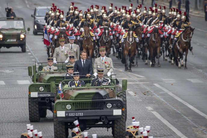 Le président Emmanuel Macron lors du défilé du 14 juillet 2019 à Paris.