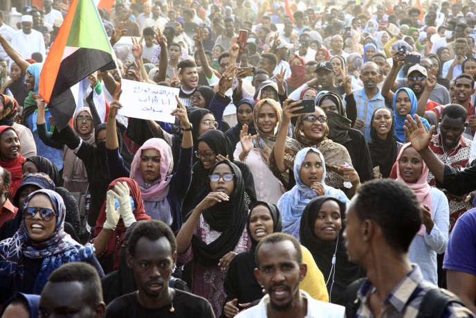 Manifestation à Khartoum le 13 juillet 2019.