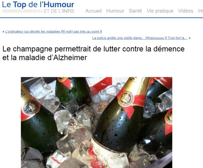 Boire du champagne ne permet pas de lutter contre la démence