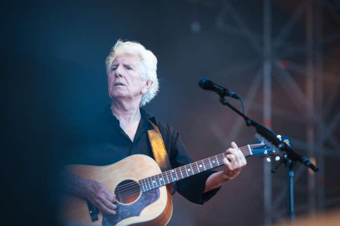Graham Nash, sur la scène de Musilac, le 13 juillet à Aix-les-Bains (Savoie).