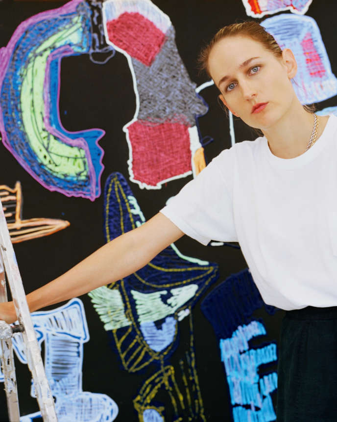 Leelee Kimmel, à la galerie Almine Rech, à Paris, le 5juin.