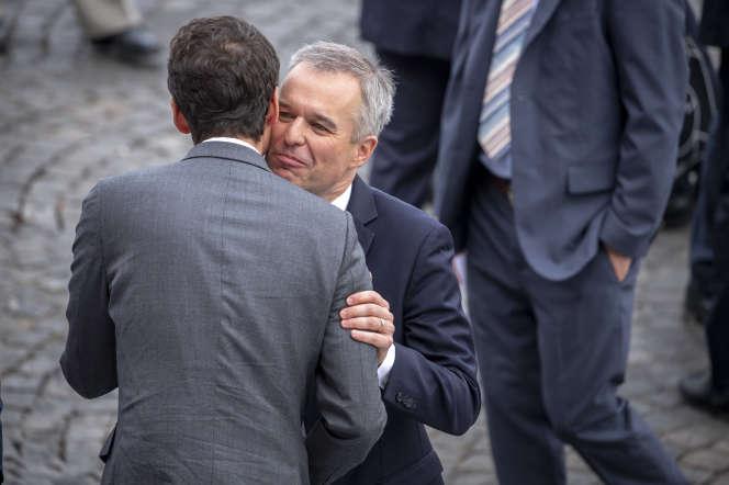 François de Rugy le 14 juillet sur les Champs-Elysées.
