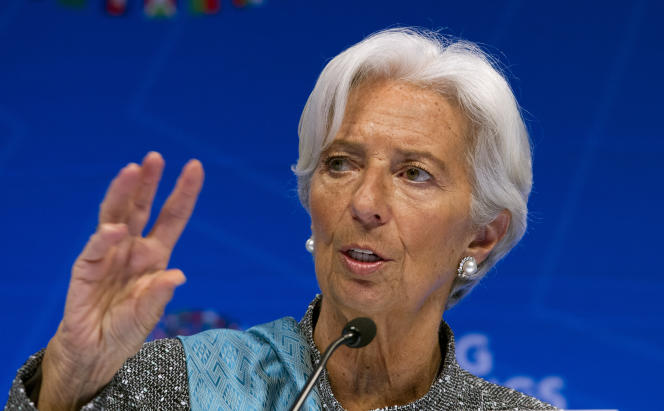 Christine Lagarde, directrice générale du Fonds monétaire international (FMI), le 13 avril 2019, à Washington.