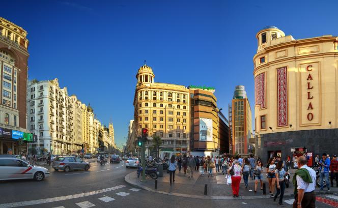 Le carrefour Callao, à Madrid.