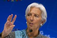 Christine Lagarde, directrice générale du Fonds monétaire international (FMI), le 13 avril 2019, à Washington.