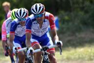 Thibaut Pinot, lundi 15 juillet, lors de la 10e étape entre Saint-Flour et Albi.