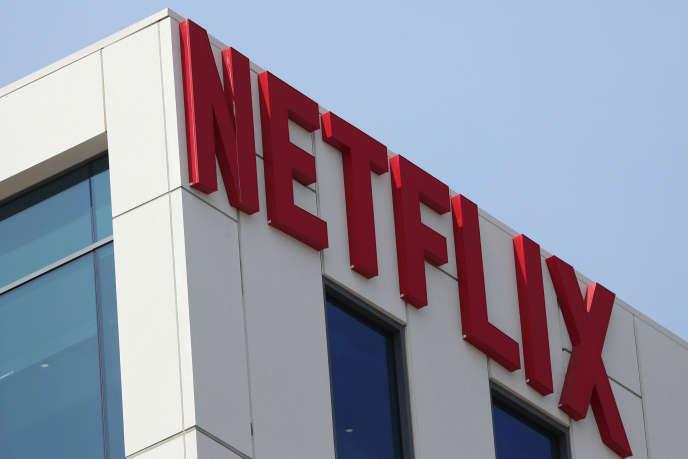 Le logo de Netflix sur la façade de son immeuble de bureaux à Hollywood (Los Angeles, Etats-Unis), le 16 juillet 2018.