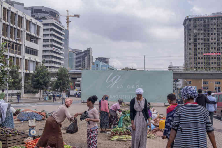 A small food market around La Gare area in Addis Ababa, Ethiopia. July 2019/Maheder Haileselassie Tadese