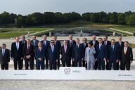 Ministres des finances et grands argentiers lors de la réunion du G7, à Chantilly (Oise), le 17 juillet.