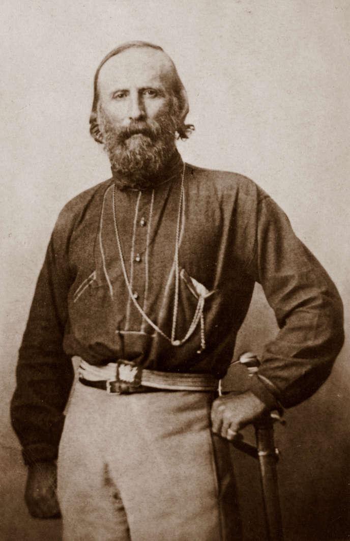 Giuseppe Garibaldi à Naples, en 1861.
