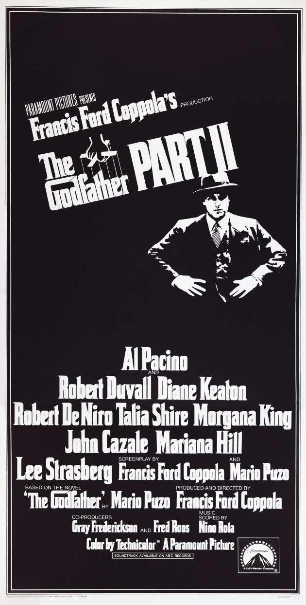Affiche du« Parrain II», de Francis Ford Coppola (1974).