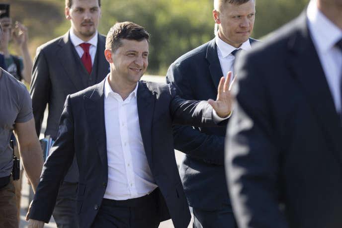 Le président ukrainien, Volodymyr Zelensky, en visite dans la région de Zaporizhye, le 18 juillet.