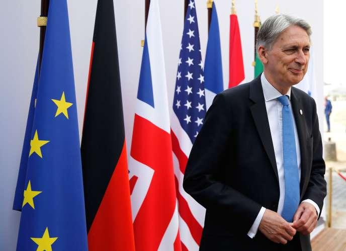 Le chancelier de l'échiquier Philip Hammond, à Chantilly le 17 juillet.