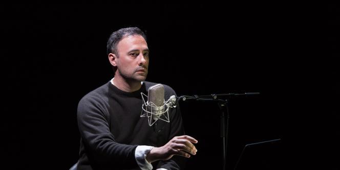 Xavier Gallais dans «Le Fantôme d'Aziyadé», à Avignon-Reine Blanche, le 4 juillet 2019.