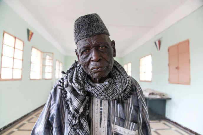 Sadio Coulibaly (ici en 2018 à Saint-Louis) a grandi au Soudan francais (actuel Mali). Incorporé a Bamako en 1942, il a participé a la seconde guerre mondiale durant quelques mois en France avant d'être envoyé en Indochine puis en Algérie.