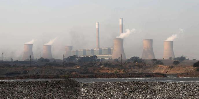 Centrales à charbon à Witbank, en Afrique du Sud, en septembre 2016.