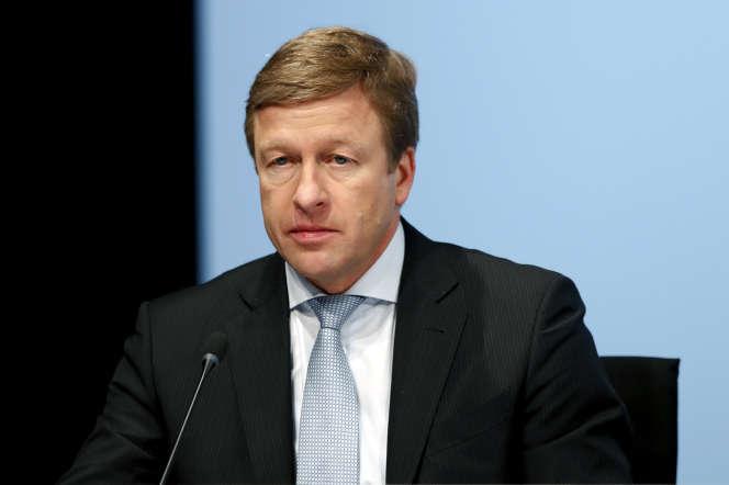 Oliver Zipse, le 21 mars 2018, à Munich. Il était alors membre du directoire de BMW.