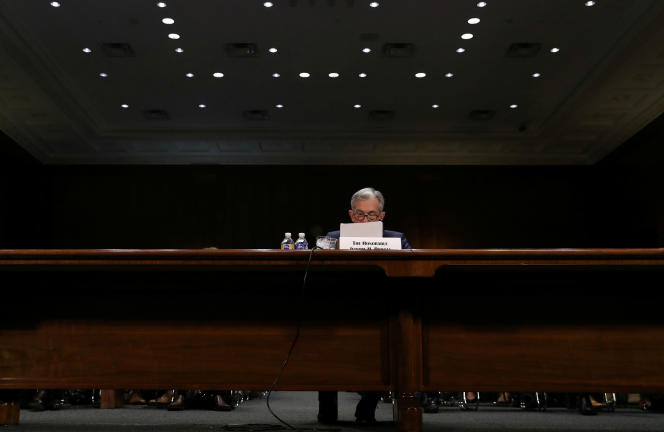 Le président de la Réserve fédérale, Jerome Powell, avant son audience par une commission du Sénat américain, le 11juillet.