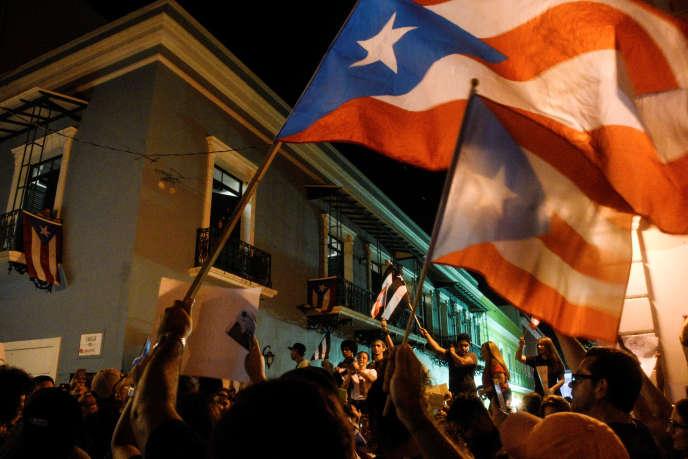 Manifestation à San Juan, le 18 juillet.