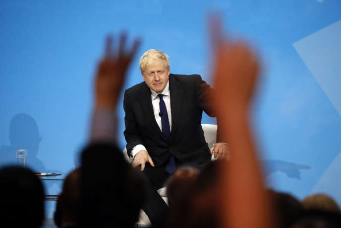 Boris Johnson lors d'un meeting à l'ExCel Center à Londres, le 17 juillet.