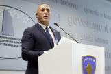 Le premier ministre du Kosovo, Ramush Haradinaj, a donné une conférence de presse, le 19 juillet.