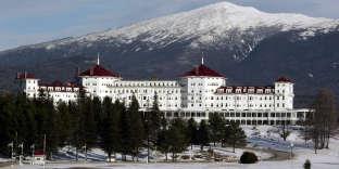 L'hôtel Mount Washington (ici en janvier 2007), dans le New Hampshire (nord-est des Etats-Unis), où furent signés les accords de Bretton Woods, le 22 juillet 1944.