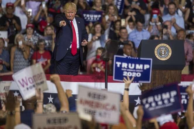Donald Trump à Greenville, en Caroline du Nord, le 17 juillet.