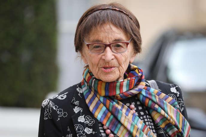 La philosophe hongroise Agnes Heller, au palais de l'Elysée, à Paris, le 21 mai.