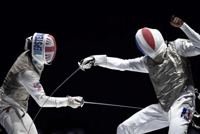 Enzo Leforr, ici à droite, s'est imposé samedi 20 juillet en finale des championnats du monde.