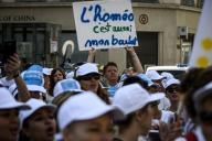 Mobilisation en faveur du remboursement de l'homéopathie par la Sécurité sociale àLyon, le 28 juin.