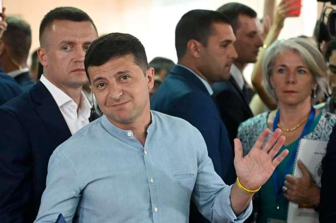 Le président ukrainien, Volodymyr Zelensky, lors des élections législatives le 21 juillet.