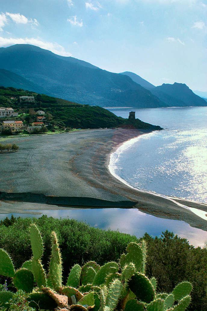 La plage d'Albo, en Corse, à deux pas de Nonza.