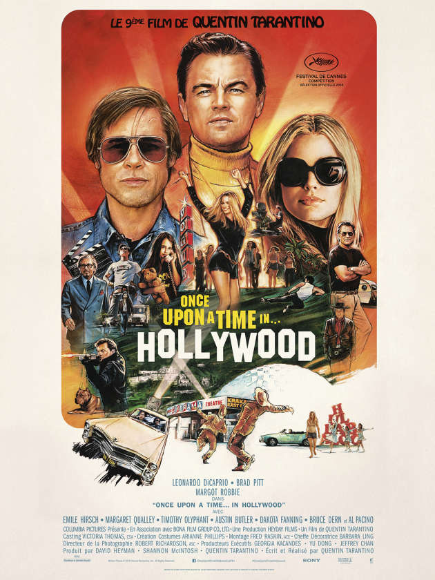 Affiche du film « Once Upon a Time in Hollywood », de Quentin Trantino (2019).