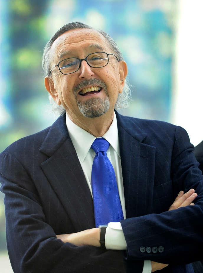 L'architecte argentin Cesar Pelli à Bilbao (Espagne), en février 2012.