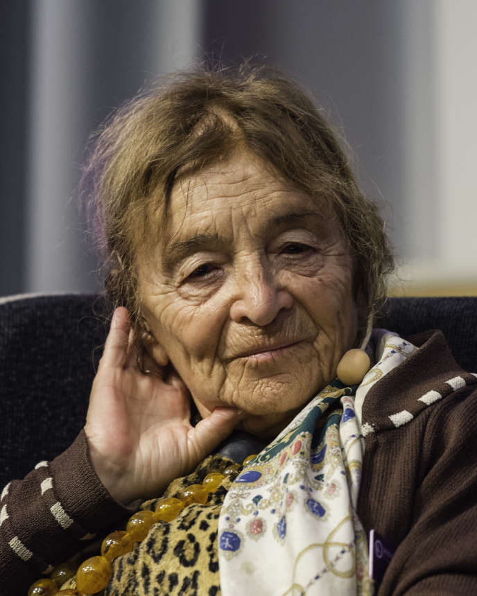 La philosophe Agnes Heller au festival du livre de Göteborg, en 2015.