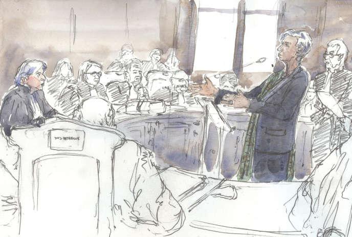 Christine Lagarde devant la Cour de justice de la République, en décembre 2016.