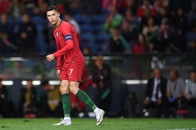 L'attaquant portugais Cristiano Ronaldo à la finale de la Ligue des nations de l'UEFA entre le Portugal et les Pays-Bas, à Porto le 09 juin 2019.