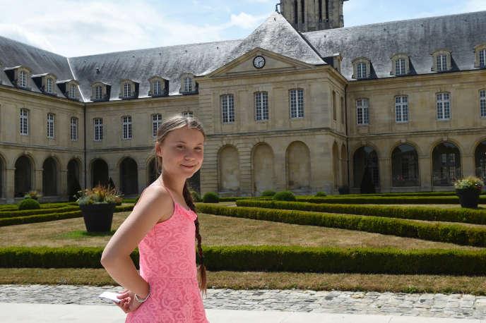 La Suédoise Greta Thunberg, le 21 juillet, à Caen.