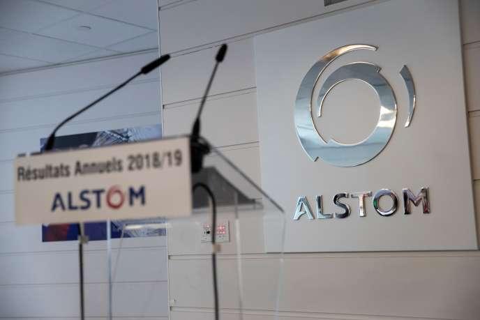 Lors de la présentation des résultats annuels d'Alstom, à Saint-Ouen (Seine-Saint-Denis), en mai.