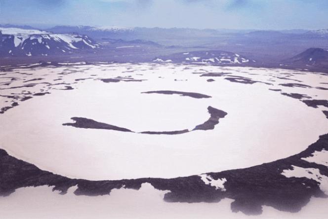 Le glacier Okjökull, avant sa fonte.