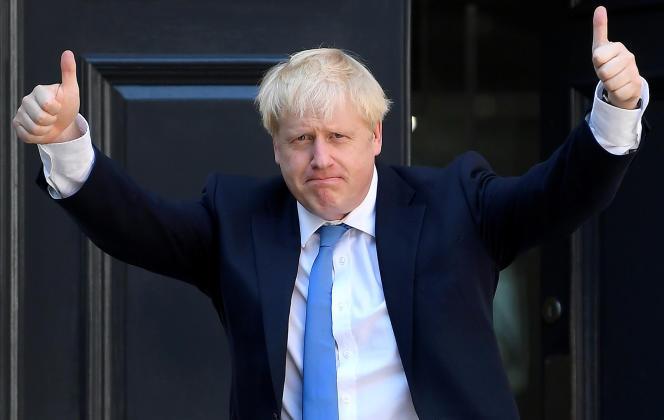 Boris Johnson au siège du Parti conservateur, à Londres, le 23 juillet.
