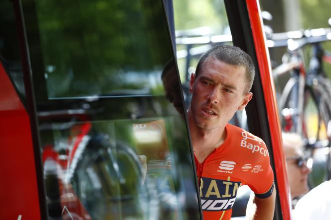 L'Australien Rohan Dennis, à Saint-Etienne, avant la 9e étape, le 14 juillet. Il abandonnera quatre jours plus tard.