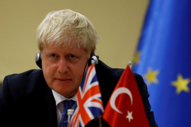 Boris Johnson, alors ministre des affaires étrangères, à Ankara, en septembre 2018.