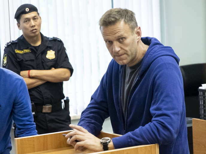 Alexeï Navalny dans une cour de justice de Moscou, le 24 juillet 2019.