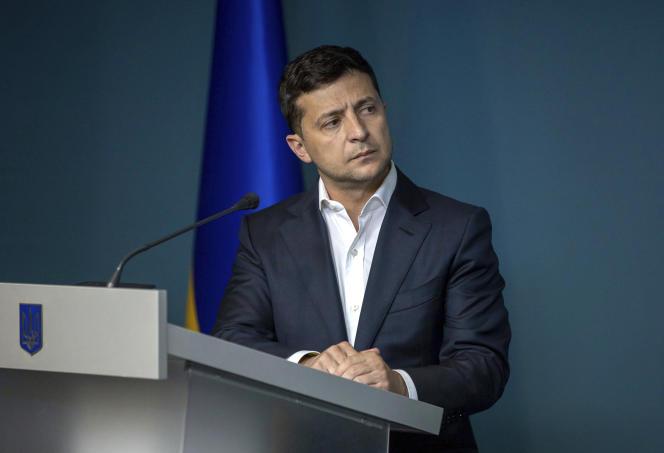 Le président ukrainien, Volodymyr Zelensky, à Kiev, le 23 juillet.