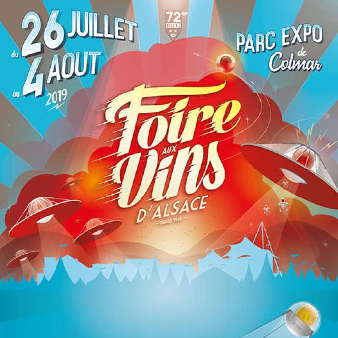 Affiche du Festival de la Foire aux vins d'Alsace de Colmar.