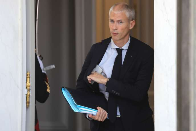 Franck Riester, the Minister of Culture, at the Elysee, July 24.