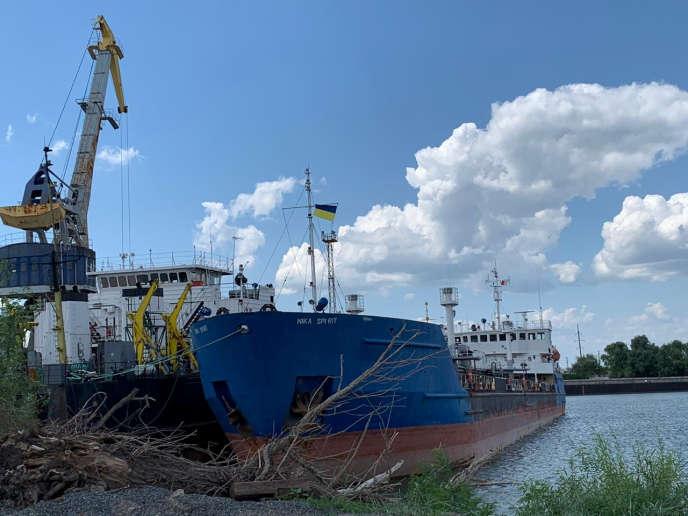 Une photo du tanker russe «Nika Spirit», nouveau nom du «Neyma», arraisonné par l'Ukraine, le 25juillet.